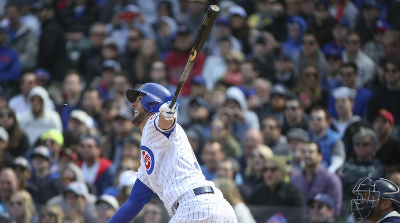 kris bryant first hit chicago cubs