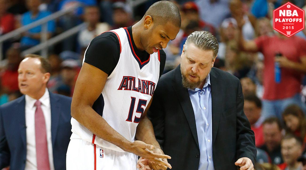 Hibbert and no 6 seed hawks al horford are two of the best centers - Al Horford S Injury Scare Highlights Fragilty Of Hawks Playoff Run