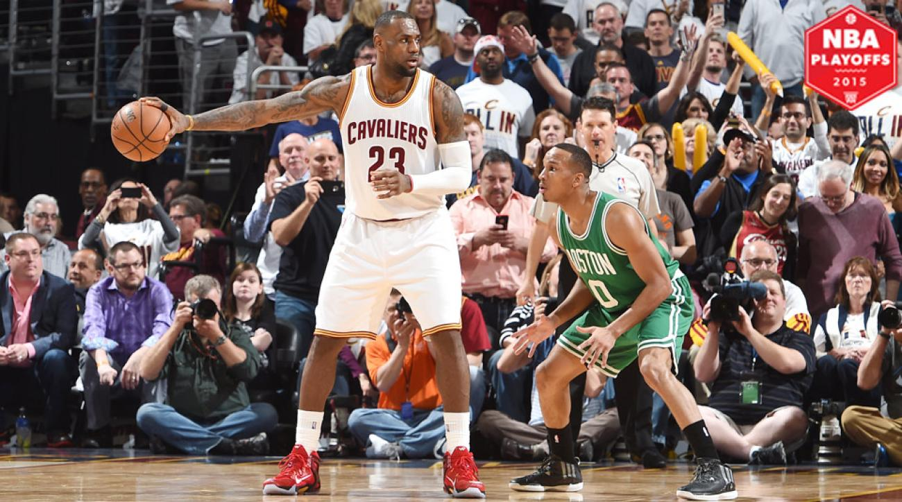 LeBron James played in his first postseason game as a member of the Cavaliers since 2010.