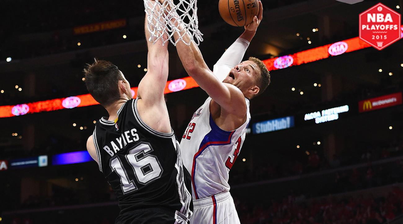 Blake Griffin threw down three monster dunks on Aron Baynes in Game 1.