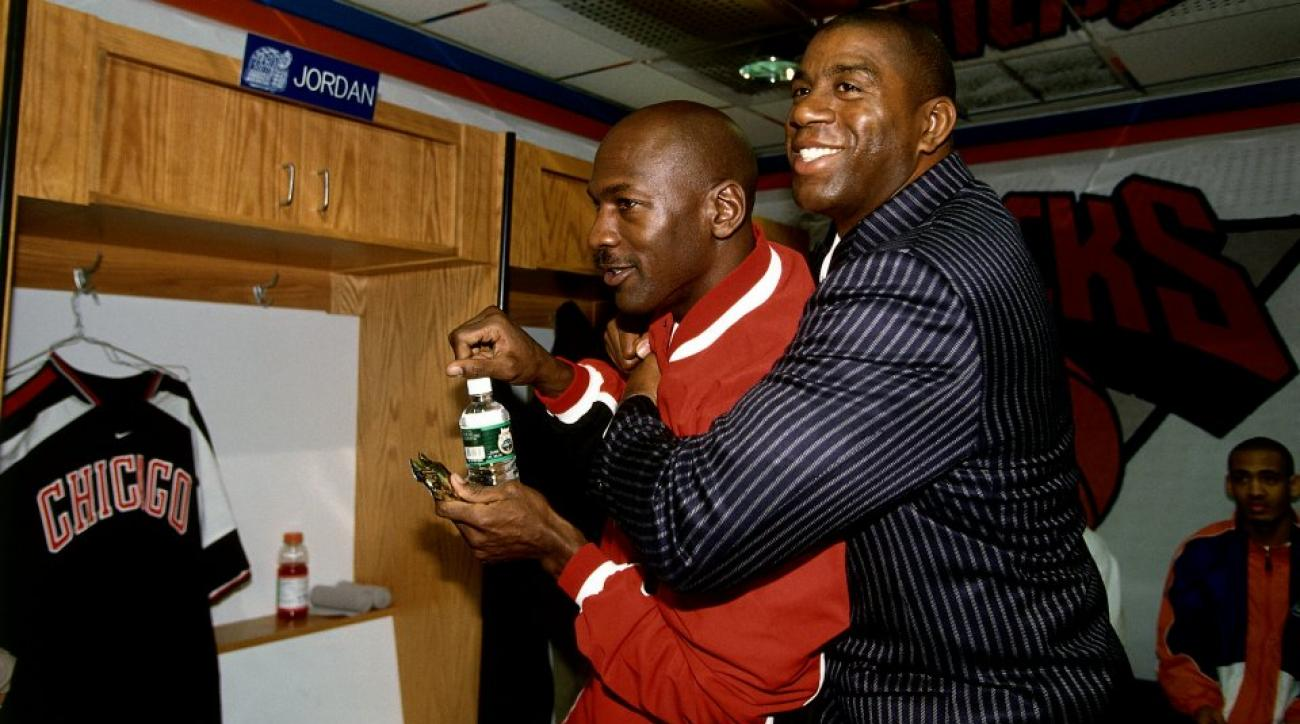 Magic Johnson asks Michael Jordan for free Nike gear