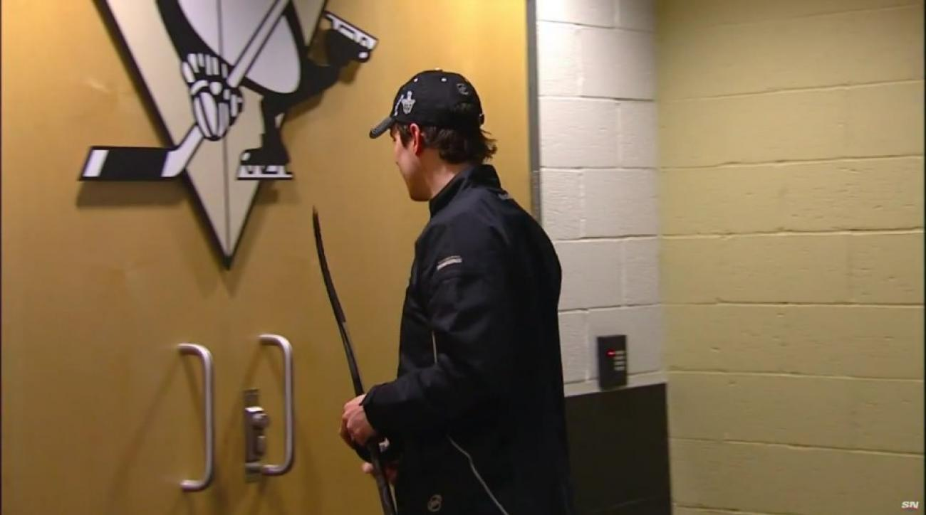 Penguins Sidney Crosby was locked out of locker room