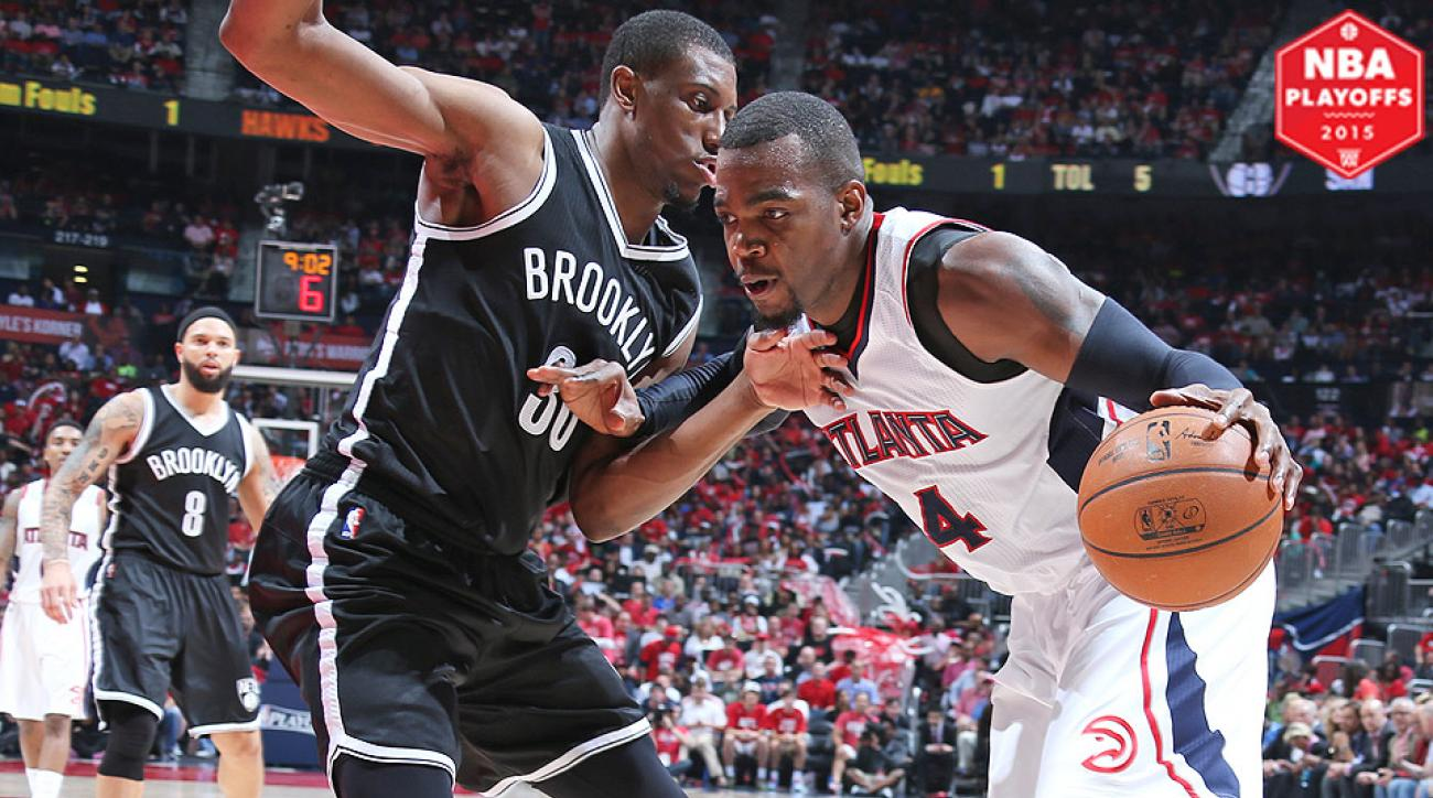 Paul Millsap scored 19 for the Hawks in a Game 2 win over the Nets.