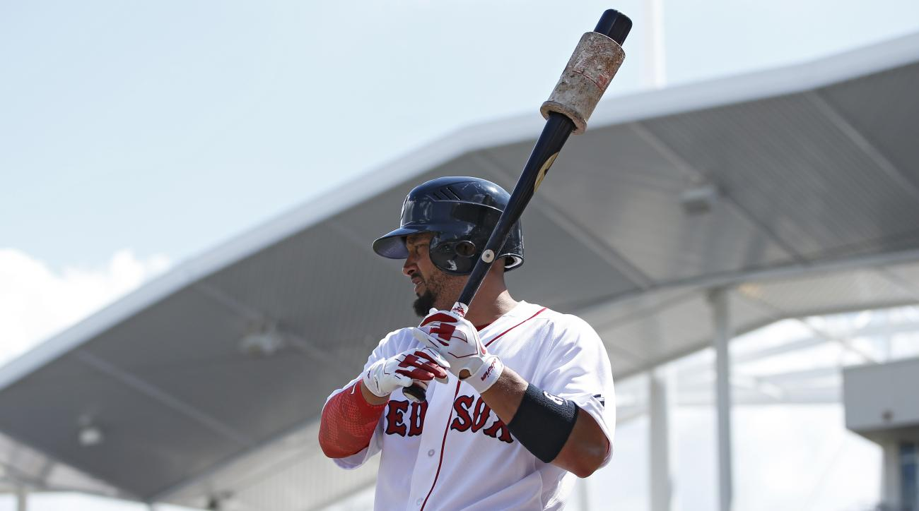 Shane Victorino Boston Red Sox right hamstring tightness