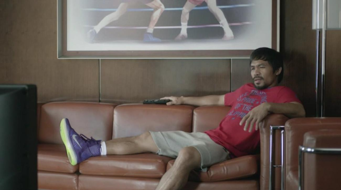 Manny pacquiao stars in new foot locker commercial