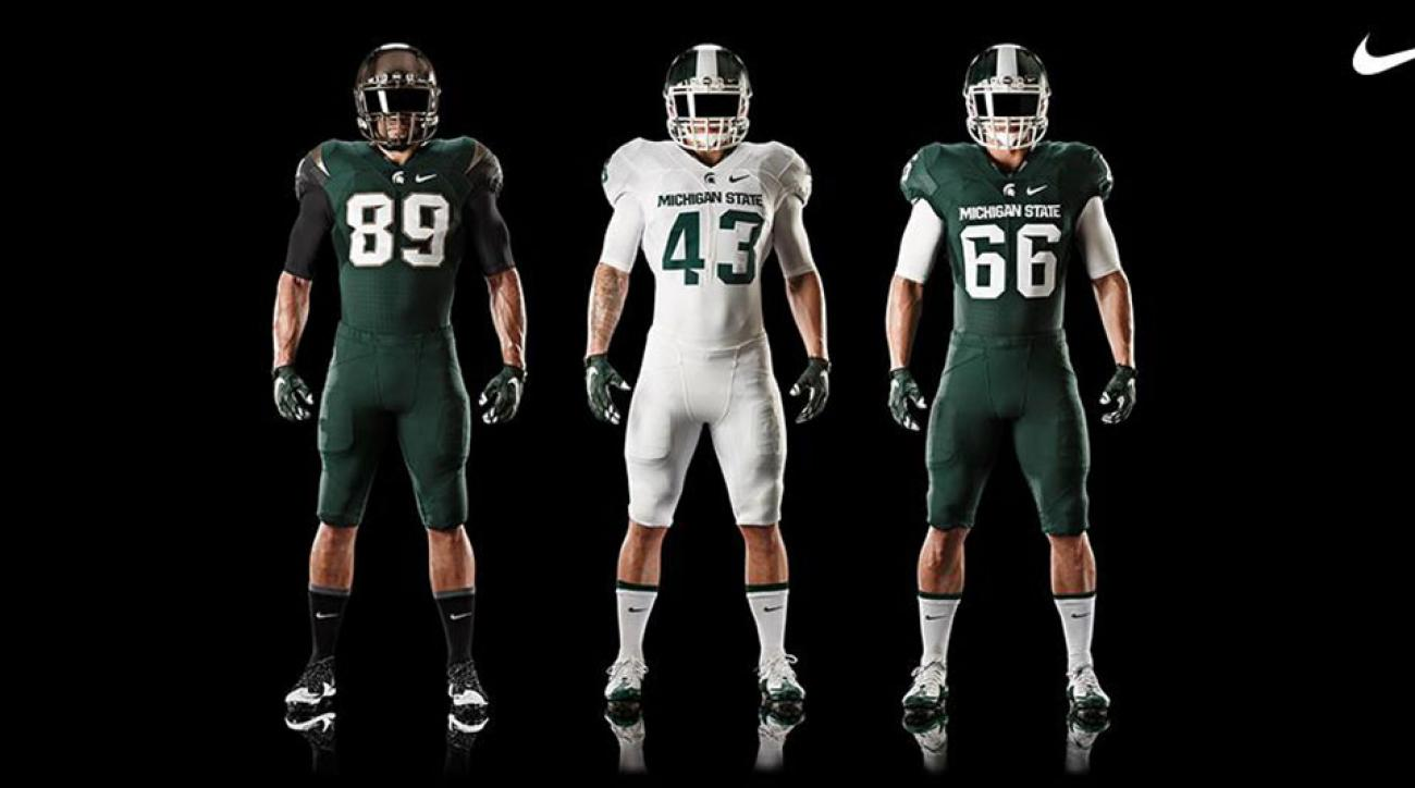 various colors b830c 9da02 michigan state football jersey custom