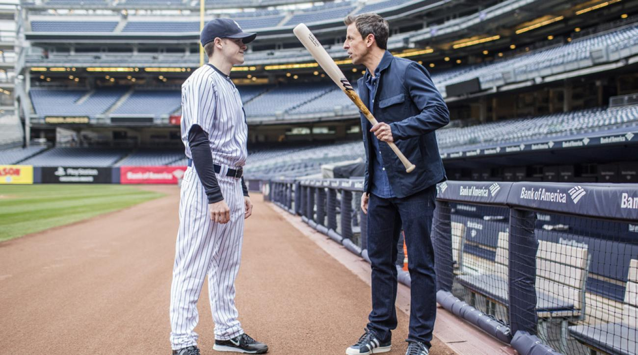 seth meyers yankees late night