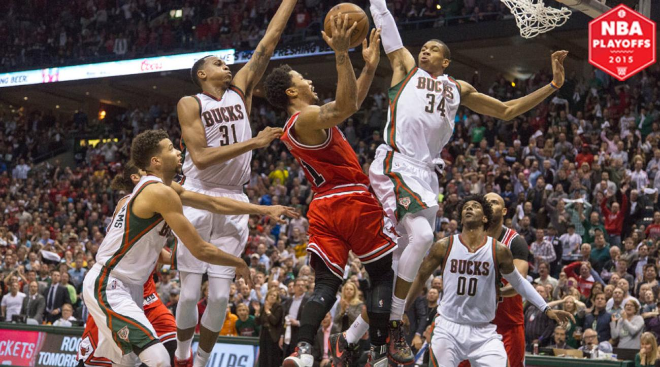 Derrick Rose scored 34 points in Bulls' double-overtime Game 3 win.