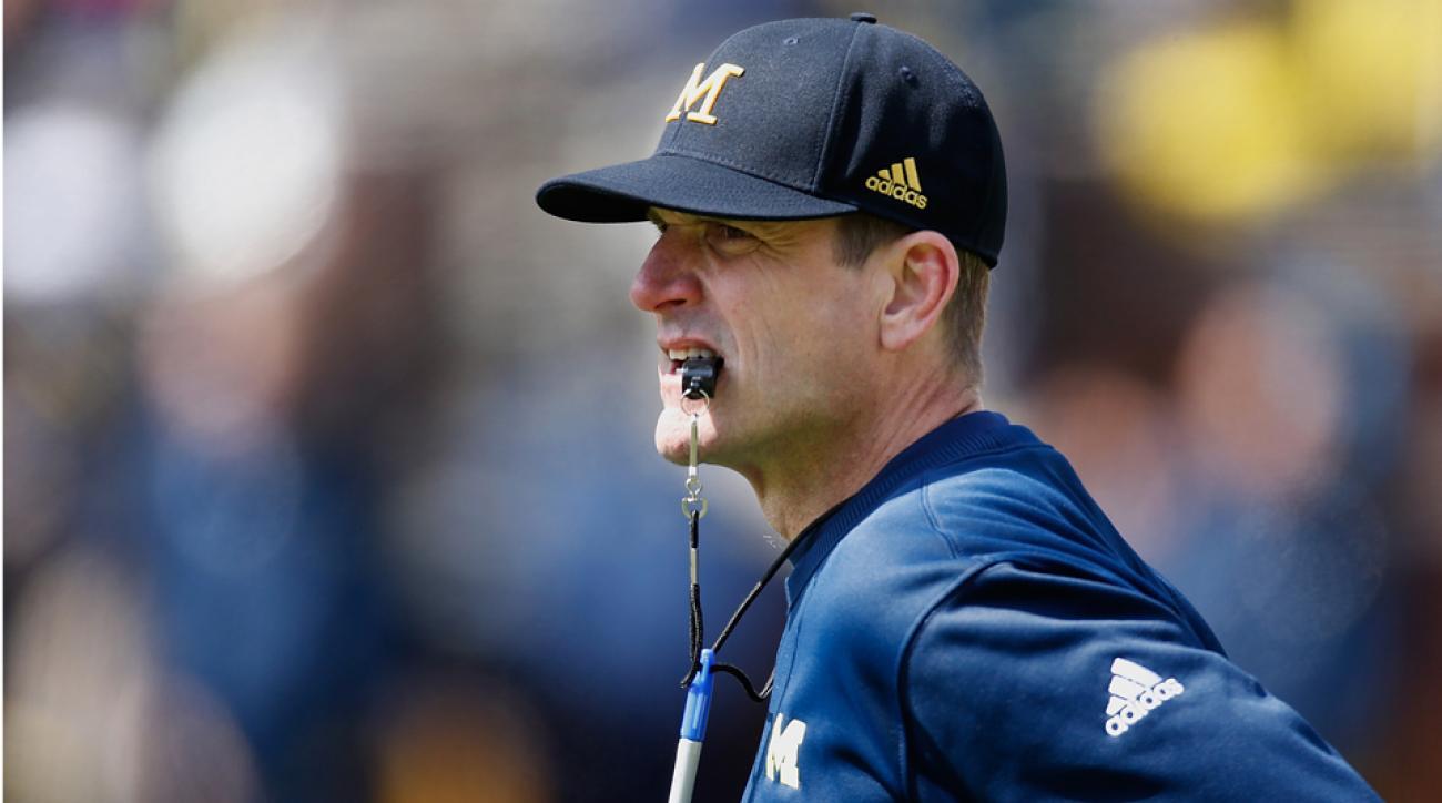 Michigan Jim Harbaugh satellite camps coaches invite