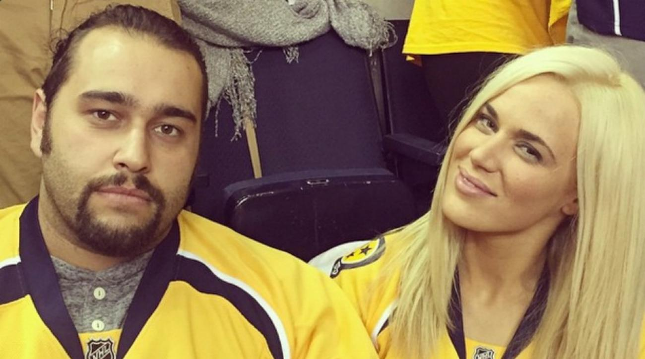 Lana and Rusev took in a Nashville Predators game