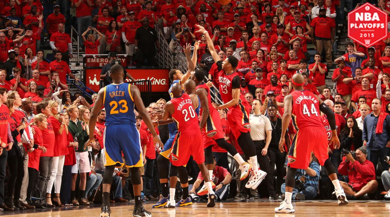 Stephen Curry hit a game-tying three-pointer to send Game 3 to overtime.