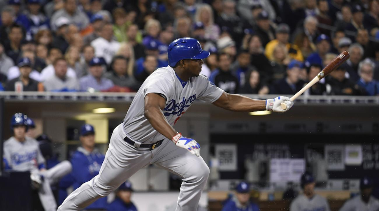 yasiel puig hamstring injury los angeles dodgers