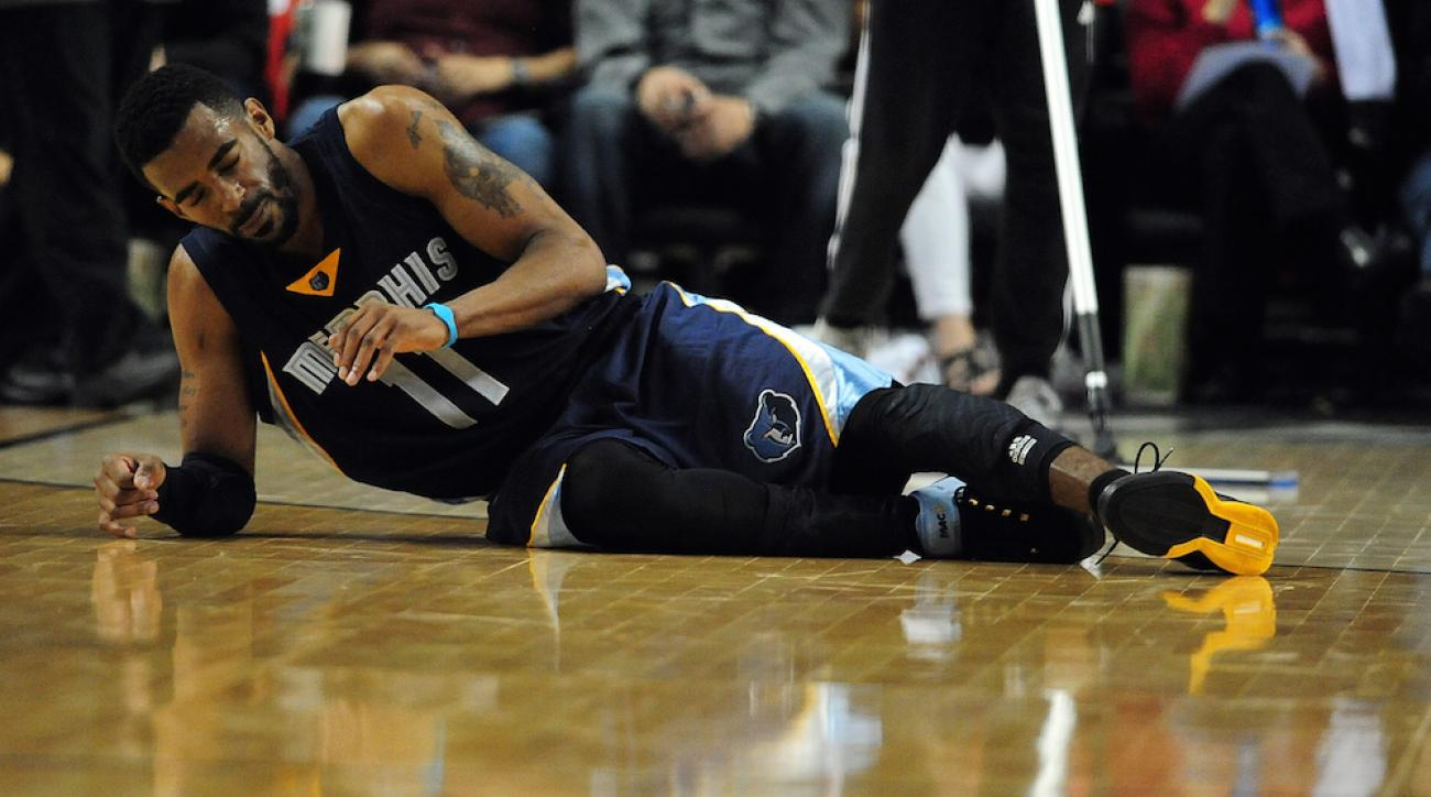 mike conley head injury game 3 memphis grizzlies portland trail blazers
