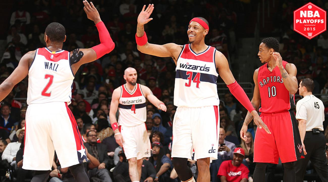 Paul Pierce and the Wizards swept the Raptors with a Game 4 victory.