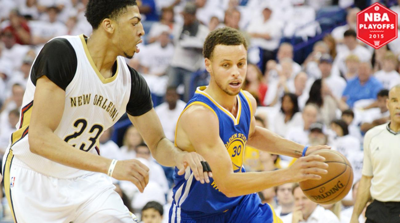 Stephen Curry, Warriors eliminated the Pelicans on Saturday.