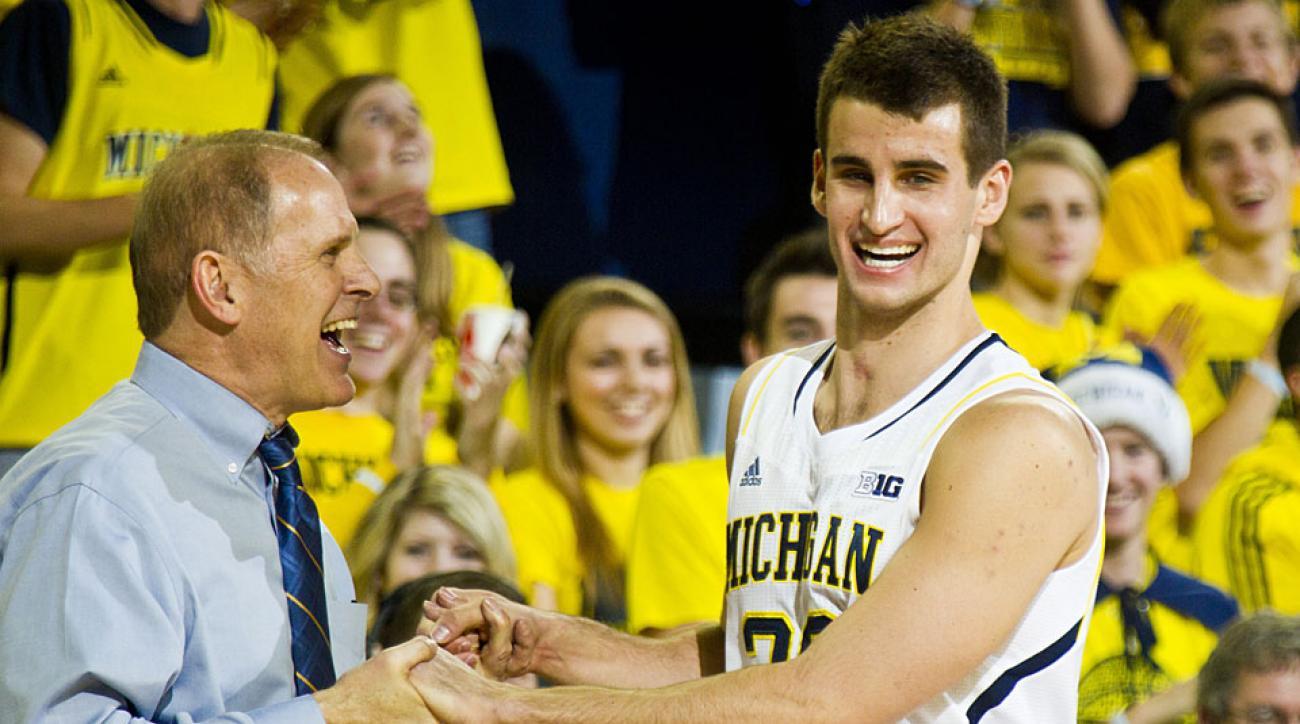 Austin Hatch and John Beilein, Michigan Wolverines