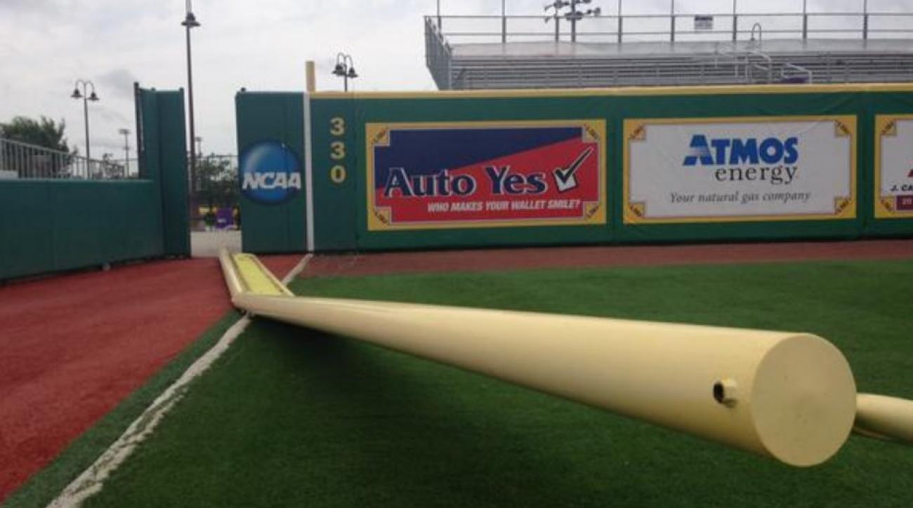 Thunderstorm knocks out LSU Baseball foul poles