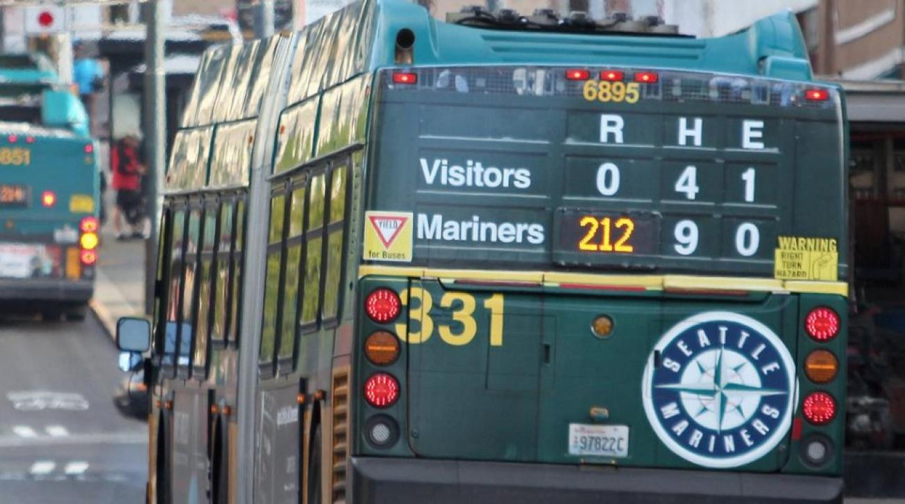 Seattle Mariners clever new bus ads