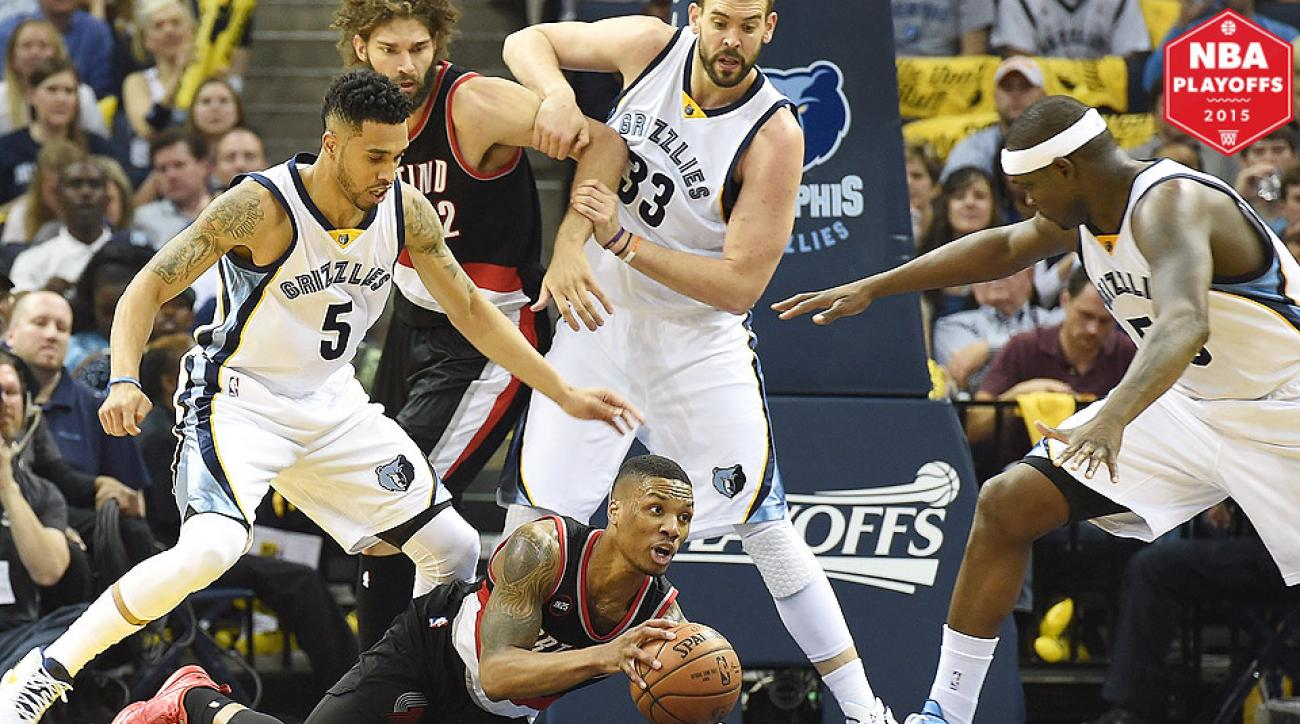 Marc Gasol, Grizzlies beat the Blazers for a 4-1 series victory.