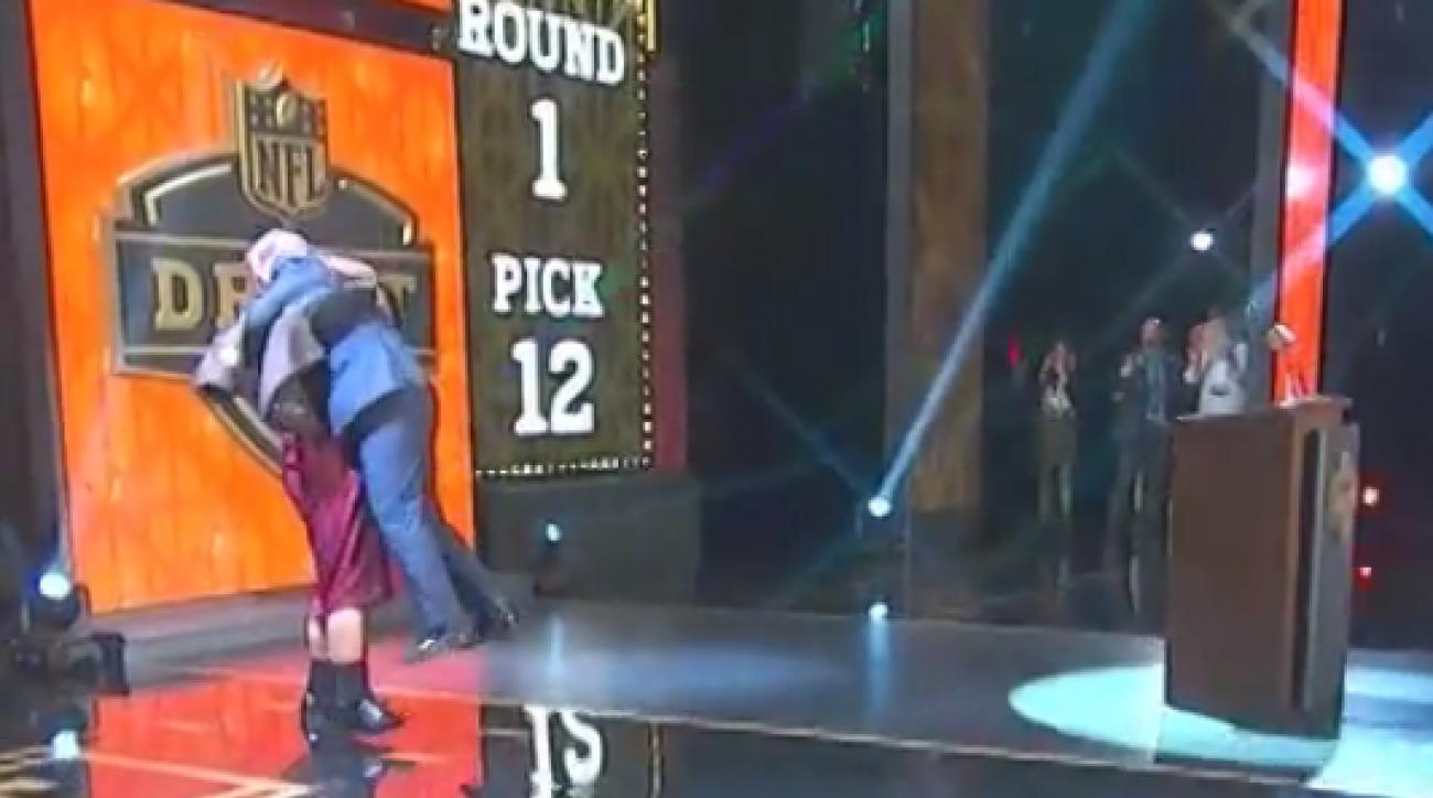 nfl draft roger goodell danny shelton hug video