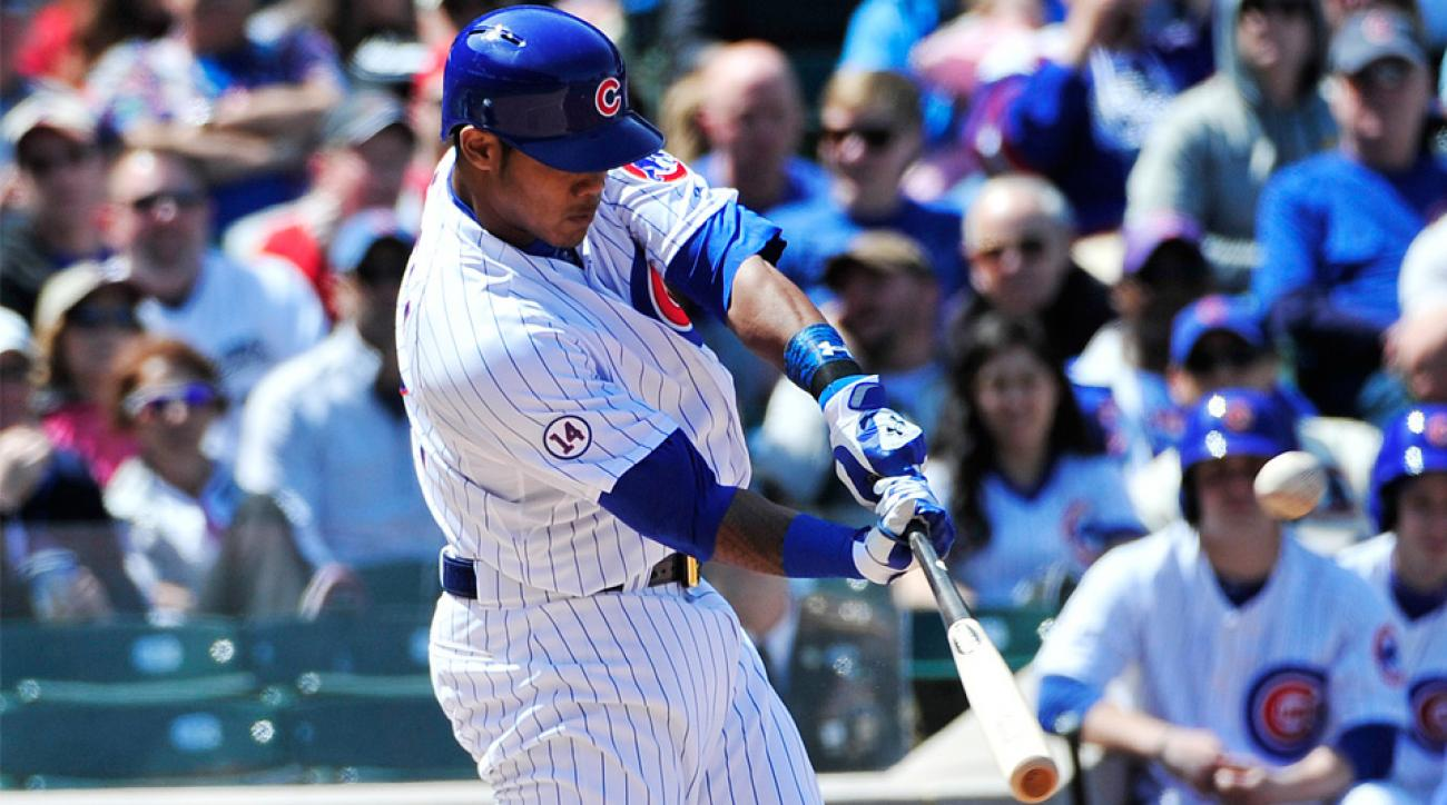 Chicago Cubs Addison Russell first MLB home run Milwaukee Brewers