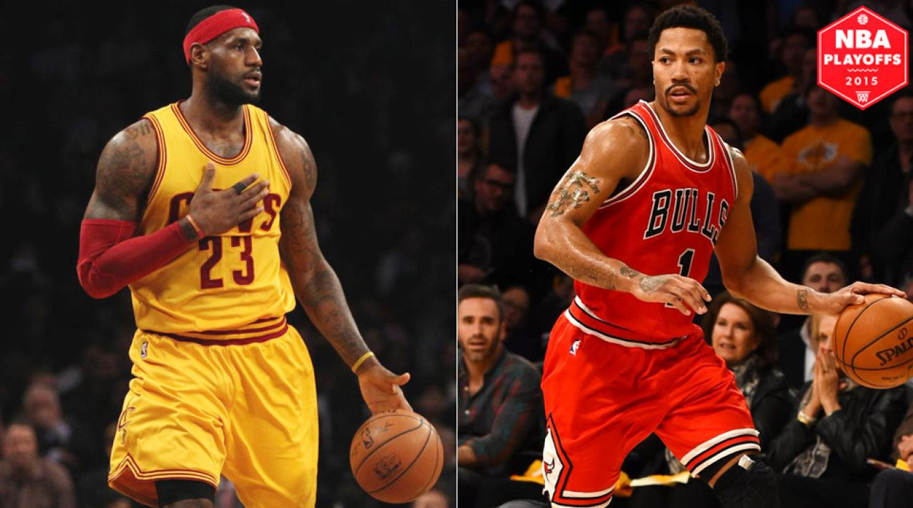LeBron James, Cavaliers face Derrick Rose, Bulls in Eastern Conference semifinals.