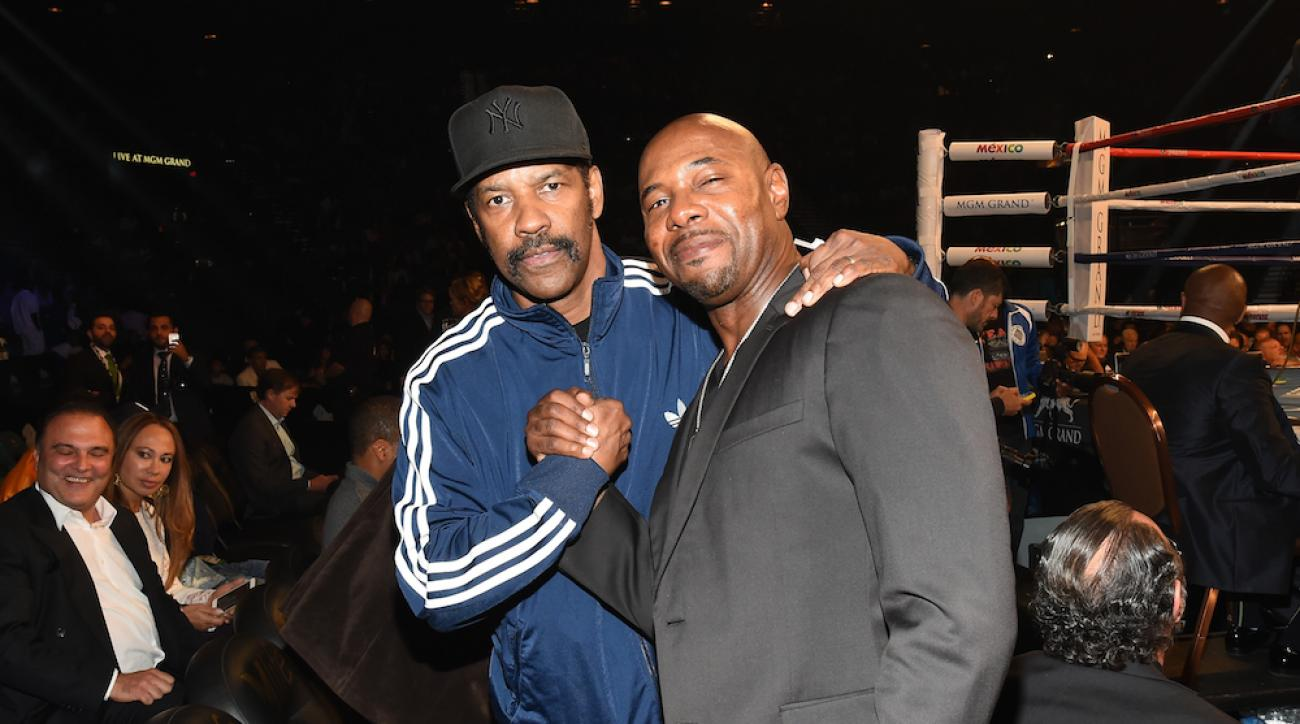 denzel washington mayweather pacquiao fight celebrities