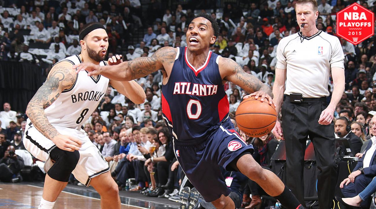 Jeff Teague, Hawks eliminated the Nets in a Game 6 rout.