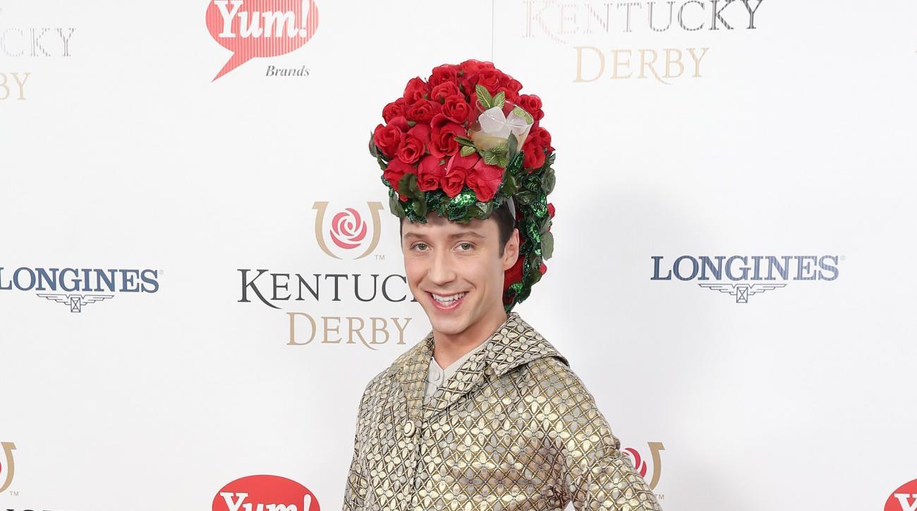 kentucky derby hat johnny weir mint julep photos