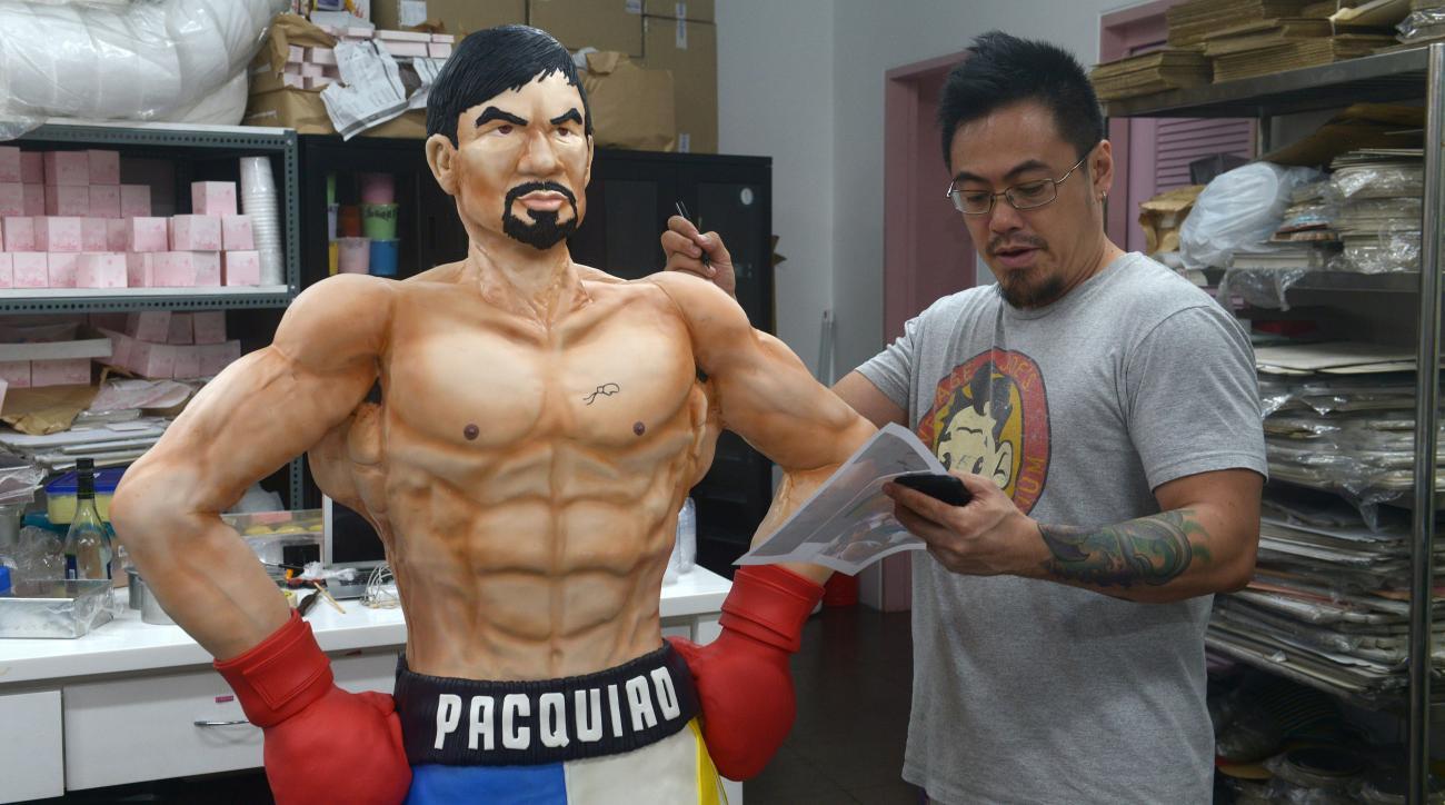mayweather pacquiao fight life-sized cake photos