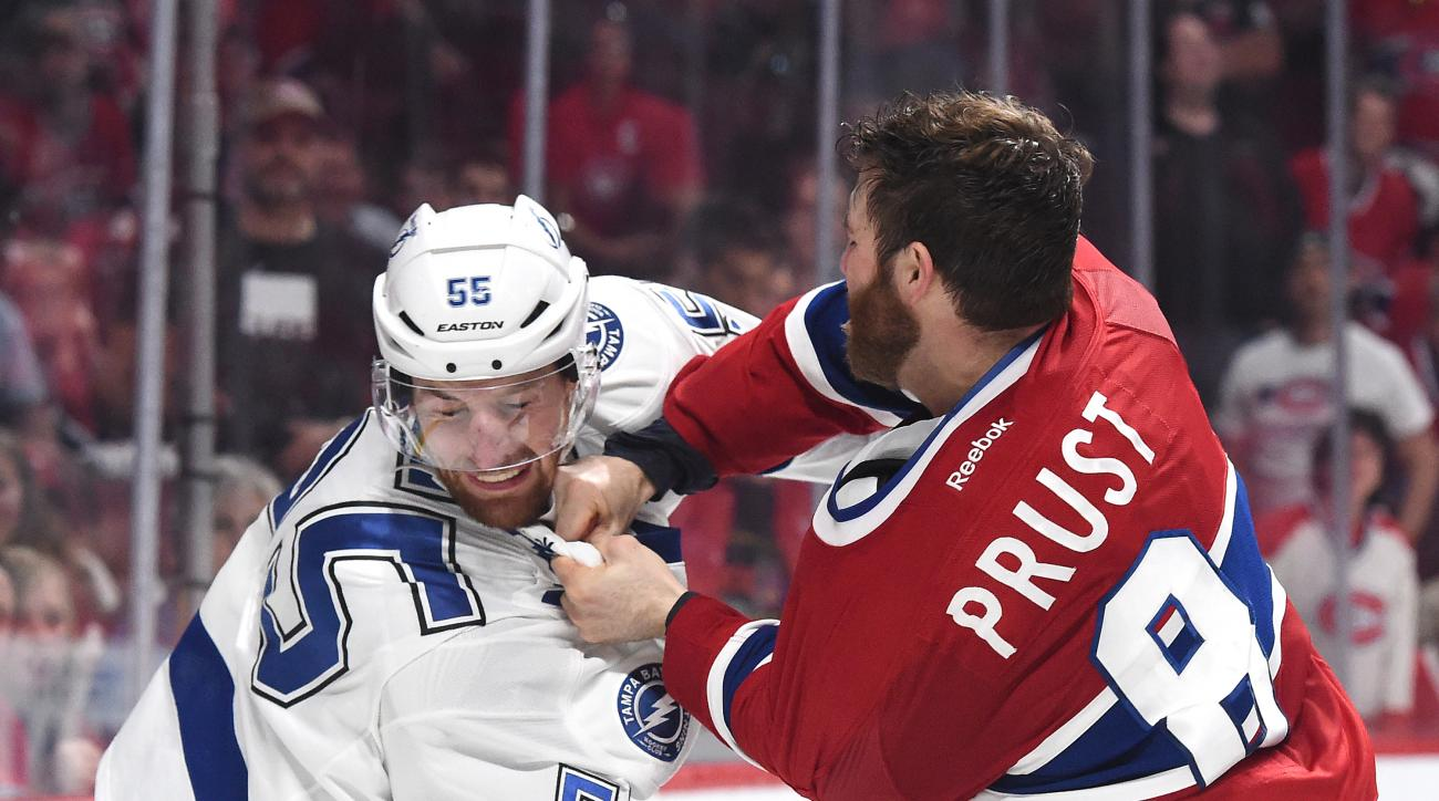 canadiens lightning brandon prust referee comments