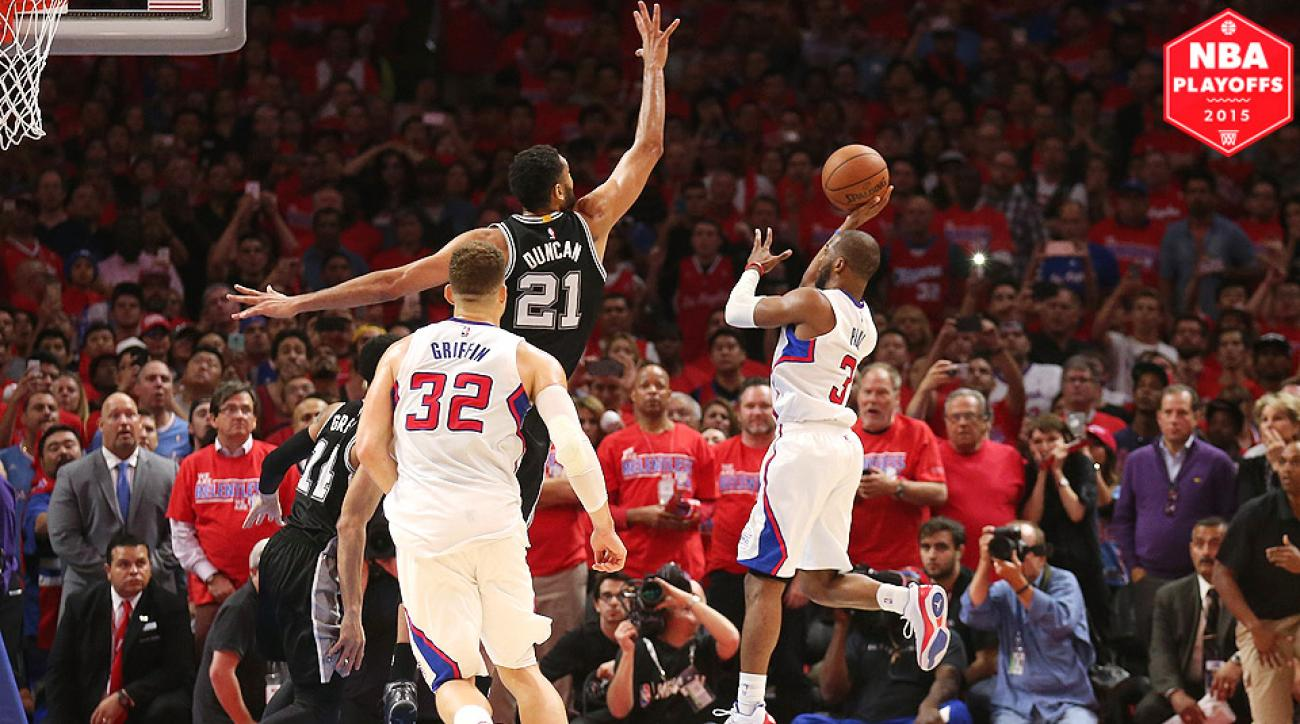 Chris Paul, Clippers advanced to second round after beating Spurs in Game 7.