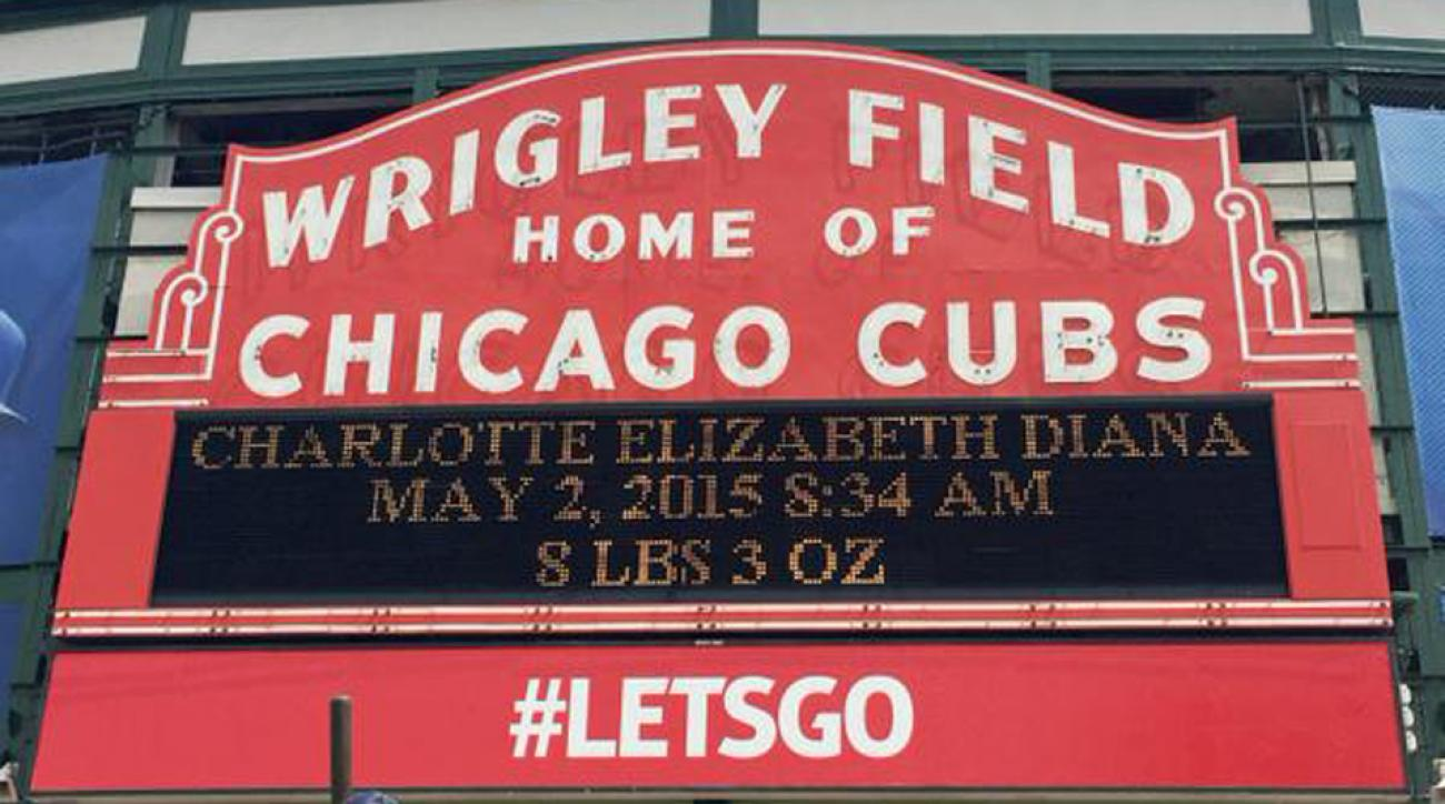 Royal baby Princess Charlotte Chicago Cubs Wrigley Field