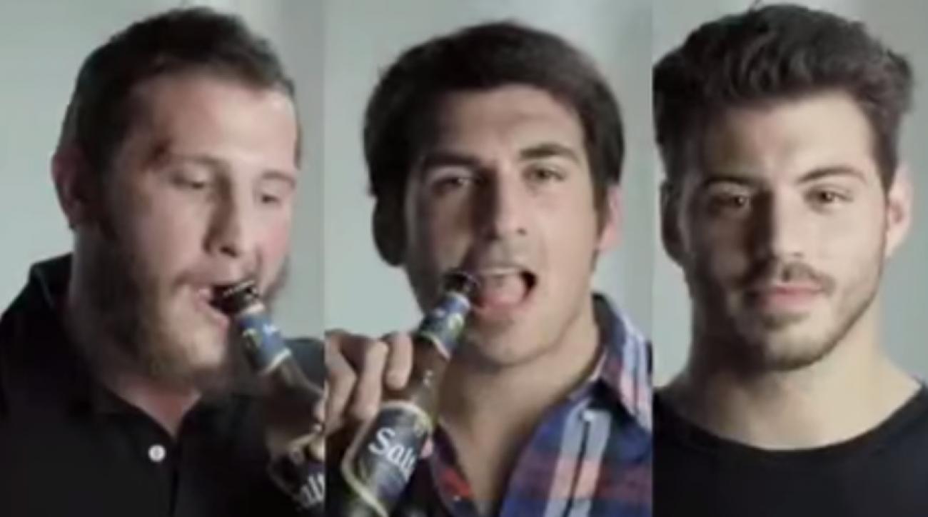 salta beer rugby teeth bottle opener
