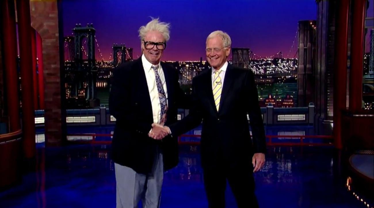 David Letterman gets a visit from Will Ferrell's Harry Caray