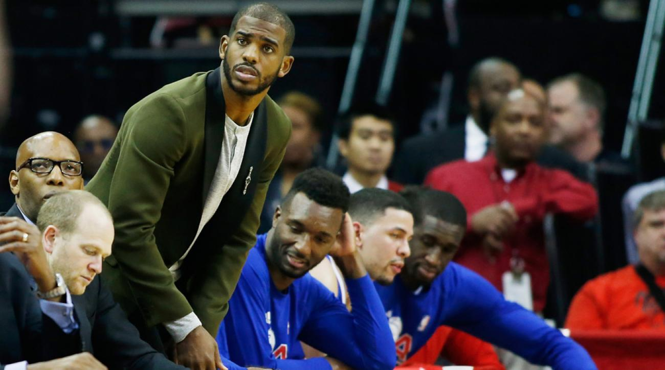 Chris Paul injury will keep him out of LA Clippers Game 2 vs Houston Rockets.