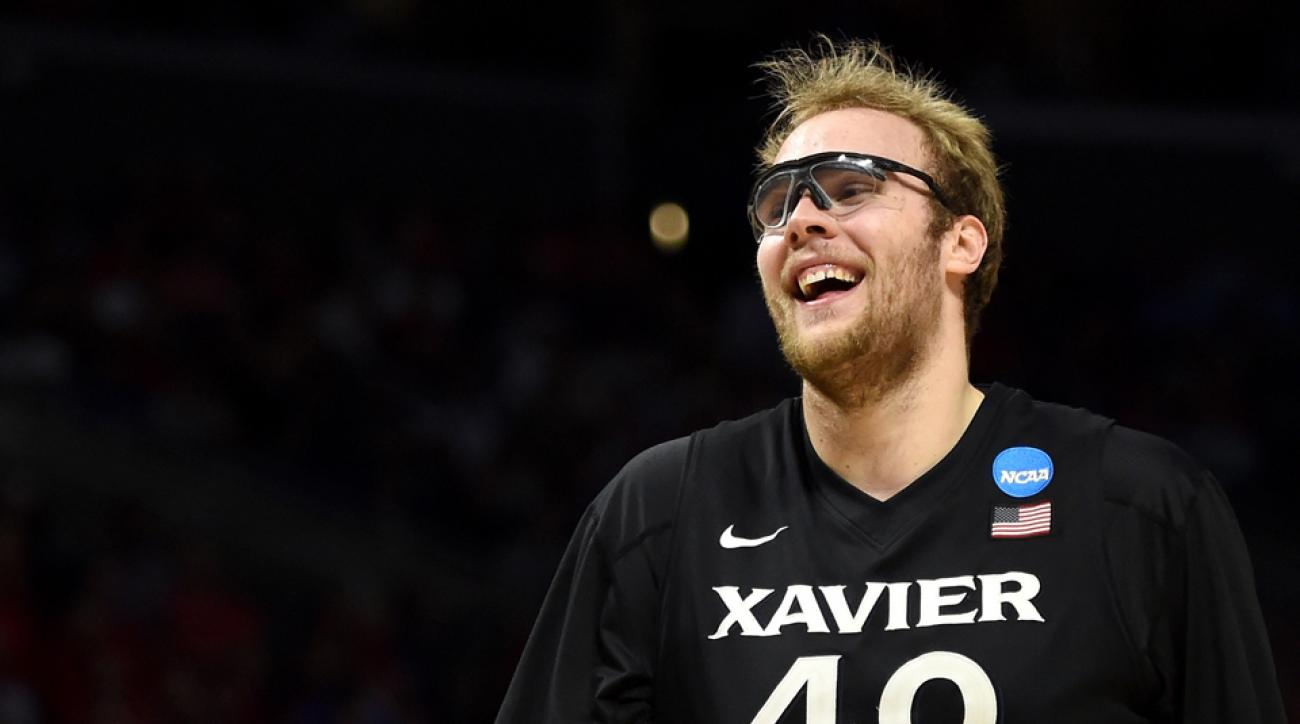 Xavier basketball Matt Stainbrook track and field
