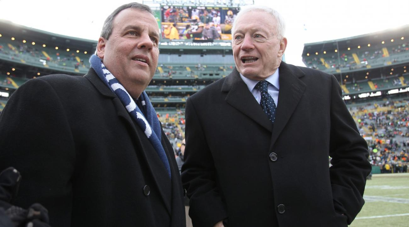 New Jersey governor Chris Christie loudly supported the Cowboys during the 2015 postseason.