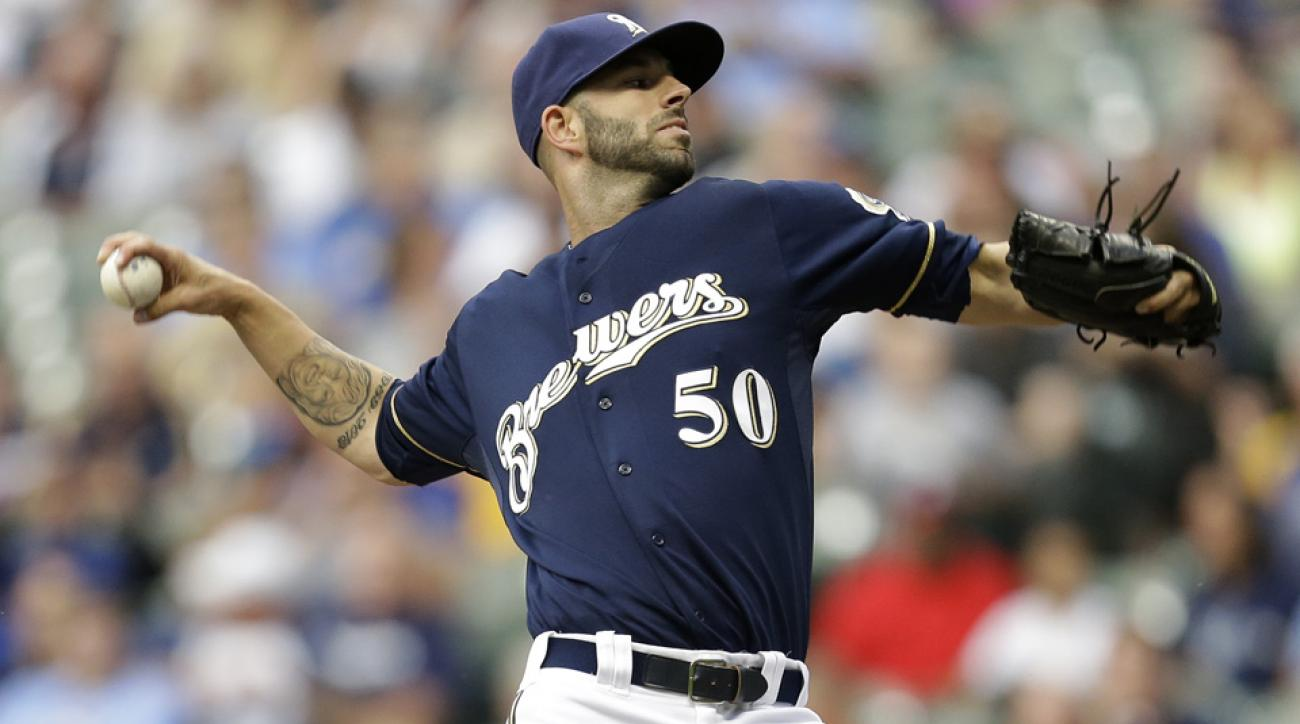mike fiers milwaukee brewers immaculate inning
