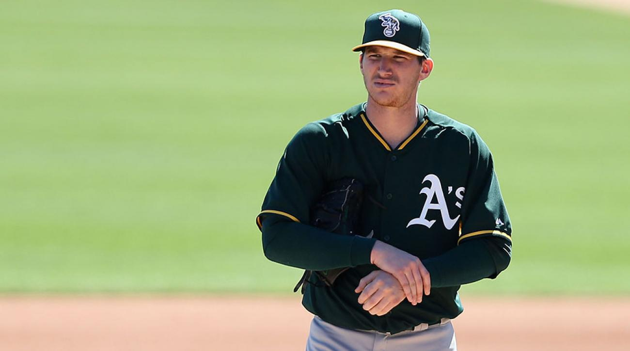A's Jarrod Parker leaves rehab start injury