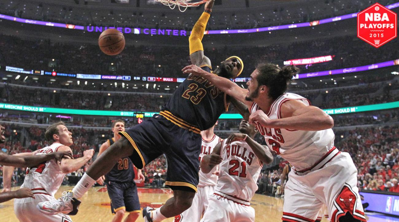LeBron James didn't hold back when recounting what Joakim Noah told him on the court.