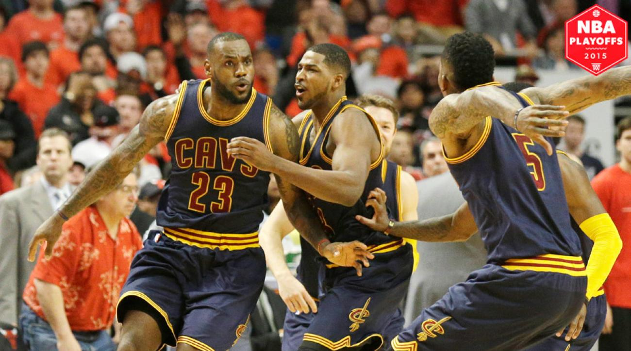 Cleveland Cavaliers' LeBron James hit a buzzer beater to defeat the Chicago Bulls in Game 4.