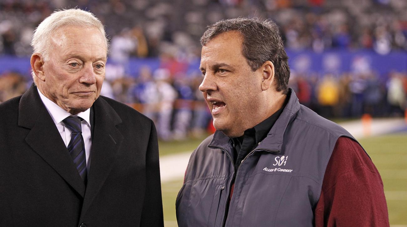 Chris Christie NFL games giants jets metlife stadium