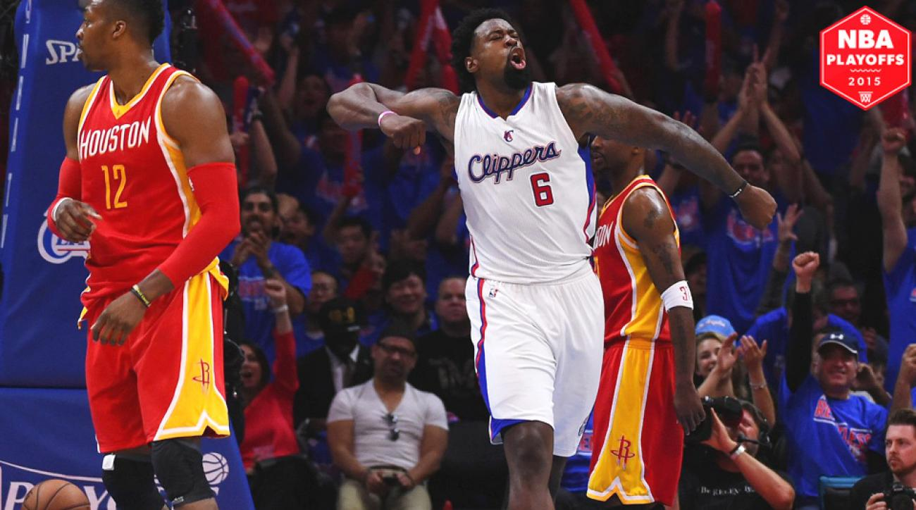 Los Angeles Clippers, DeAndre Jordan beat the Houston Rockets in Game 4.