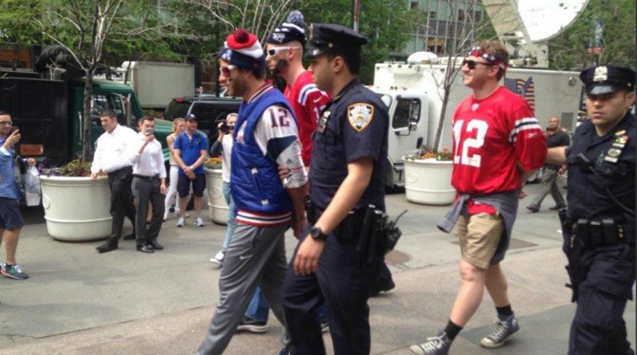 Patriots fan protest NFL headquarters