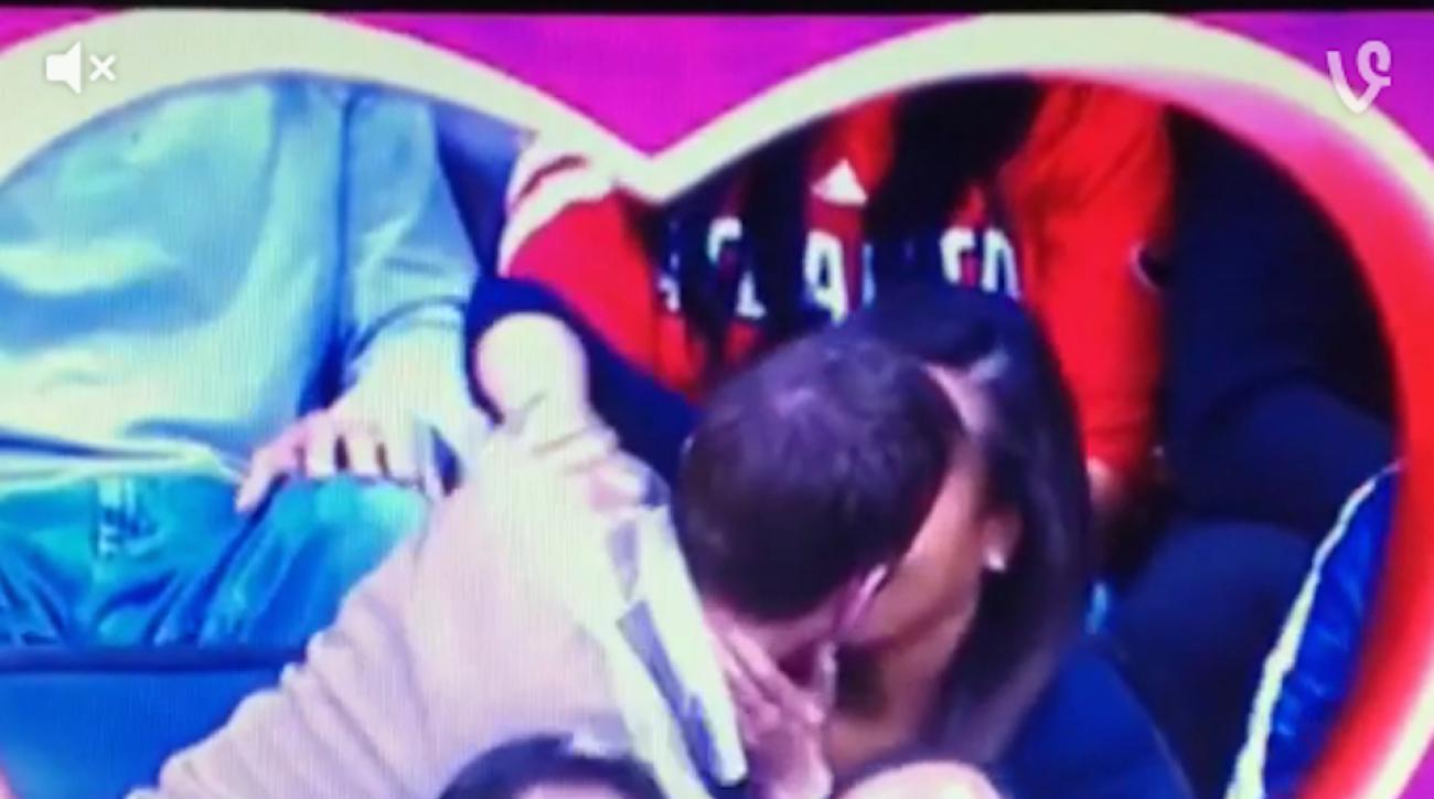 atlanta hawks kiss cam beer spill