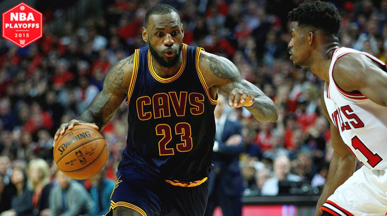 buy popular 3788c 8583e LeBron James, Cleveland Cavaliers eliminate Chicago Bulls in ...