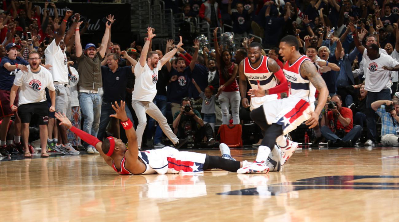 Wizards Hawks Paul Pierce game winning shot Jim Ross WWE call