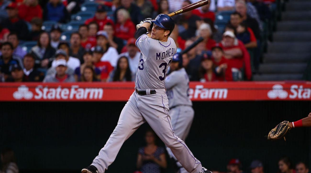 Justin Morneau was placed on the DL with concussion symptoms.