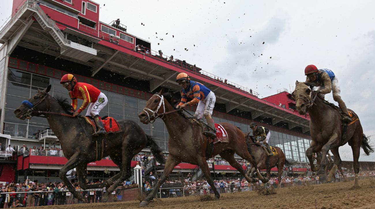 Pimlico bathrooms were backed up ahead of the Preakness.